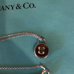 New Tiffany and Co silver padlock necklace